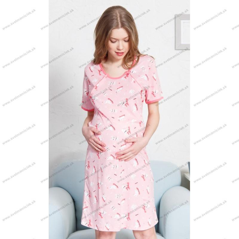 8dfeac41a Materská nočná košeľa na dojčenie Šteniatka. Výrobca: Vienetta Secret