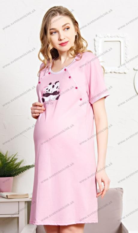 7d00f23eb Materská nočná košeľa na kojenie DVE PANDY. Výrobca: Vienetta Secret